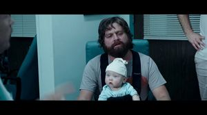 Doctor inspects old man in The Hangover