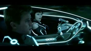In the Car with Quorra in Tron: Legacy