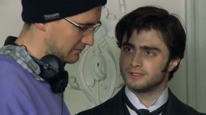 Director James Watkins and Daniel Radcliffe on Arthur in The Woman in Black