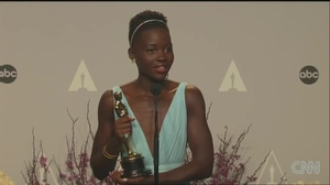 Lupita Nyong'o interview after winning Best Supporting Actress