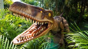 Get up close with a Velociraptor at Universal Orlando Resort