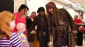 Captain Jack Sparrow makes surprise visit at Children's Hosp