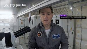Ares 3: Farewell. Matt Damon and crew bid earth farewell in