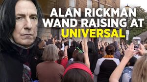 Wand Raising For Alan Rickman At