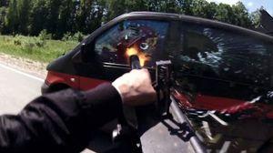 Hardcore Henry - Red Band Clip Mini-gun Car Chase